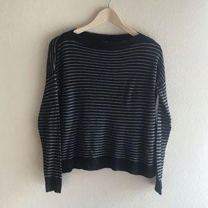 Eileen Fisher | Gray Long Sleeve Striped Sweater